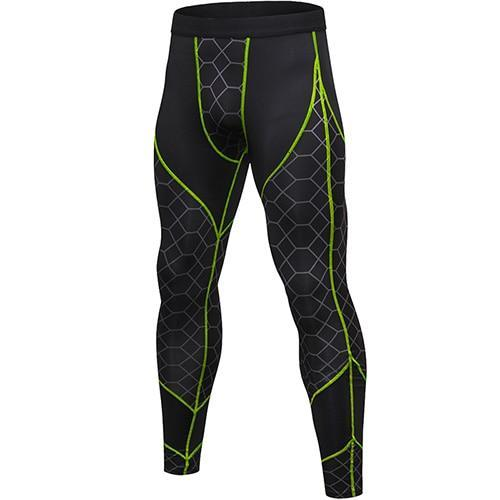 PINkart-USA gray net green line / L Quick Dry Sports Pants Men High Elastic Jogging Pants Men Outdoor Training Tight Sports Trousers