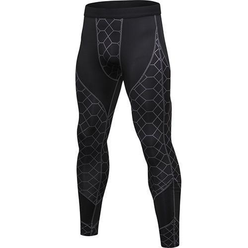 PINkart-USA gray net / L Quick Dry Sports Pants Men High Elastic Jogging Pants Men Outdoor Training Tight Sports Trousers