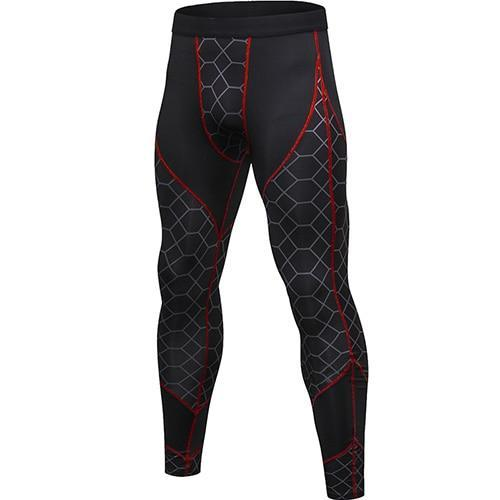 PINkart-USA gray net red line / L Quick Dry Sports Pants Men High Elastic Jogging Pants Men Outdoor Training Tight Sports Trousers