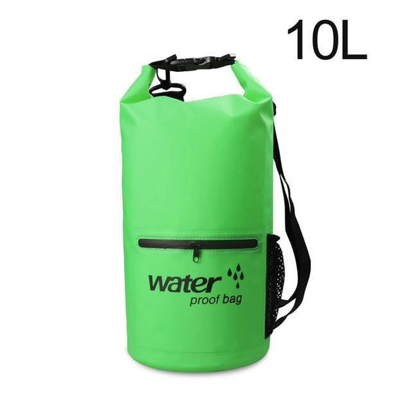PINkart-USA Green 10L Pvc 5L 10L 20L Outdoor Waterproof Bag Dry Bag Swimming Bag Sack Storage For Travelling Rafting
