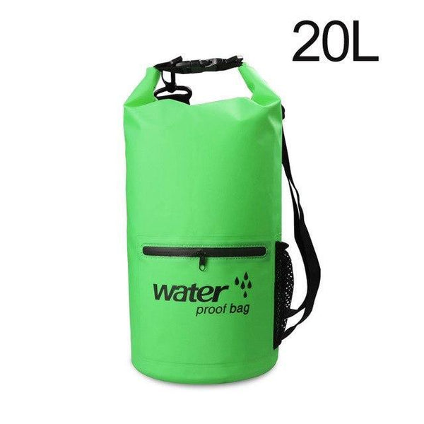 PINkart-USA Green 20L Pvc 5L 10L 20L Outdoor Waterproof Bag Dry Bag Swimming Bag Sack Storage For Travelling Rafting