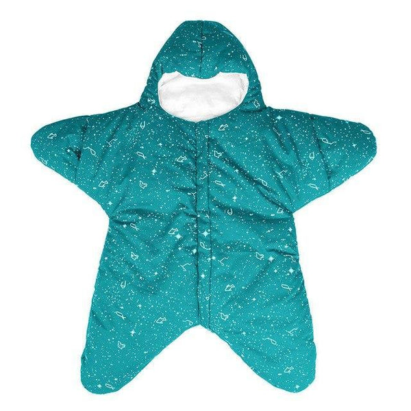 PINkart-USA Green / 24M Baby Sleeping Bag Star Shape Soft Warm Windproof Multi Function Outdoor Baby Wrap Flannel Inner 0-2