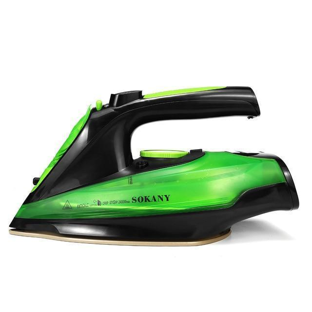 PINkart-USA Green / China 2400W Steam Iron 5 Speed Adjust Cordless Wireless Charging Portable Clothes Ironing Steamer