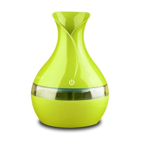 PINkart-USA Green / China 300 Ml Air Ultrasonic Humidifier For Home Essential Oil Diffuser Atomizer Air Freshener Mist