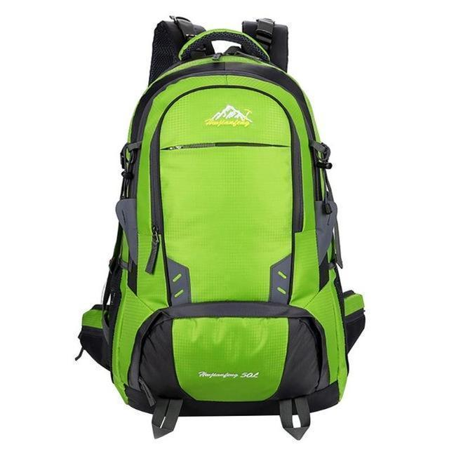 PINkart-USA Green Color 50L Waterproof Nylon Climbing Hiking Backpack Rain Cover Bag Camping Bike Mountaineering Backpack