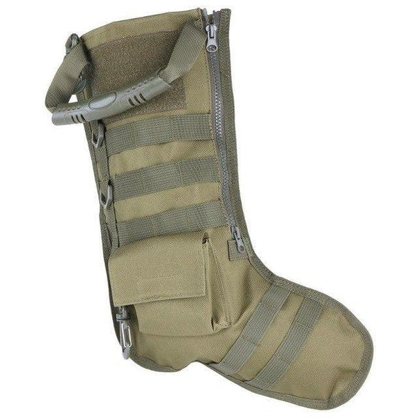 PINkart-USA Green Color Molle Straps Tactical Stocking Bag Christmas Decoration Sock Storage Bag Hanging Ornament Navidad