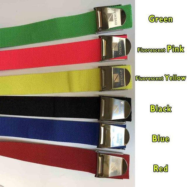 PINkart-USA Green Diving Belt 5Cm Colorful Webbing Belt With Buckle For Diver Freediving Spearfishing Equipment Black