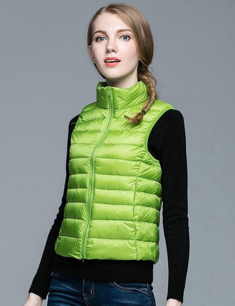 PINkart-USA Green / S Winter Women 90% White Duck Down V Women'S Ultra Light Duck Down V Jacket Autumn Winter