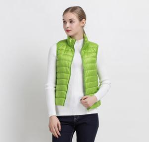 PINkart-USA Green / S Women Vs Winter Ultra Light White Duck Down V Female Slim Sleeveless Jacket Women'S Windproof