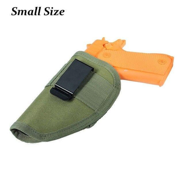 PINkart-USA Green Small Size Hunting Military Tactical Left Right Hand Gun Pistol Holster Shooting Quick Release Gun Pouch Mag
