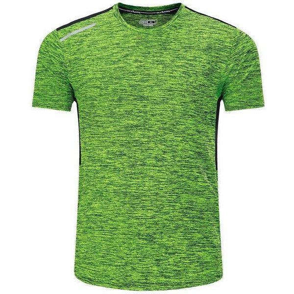 PINkart-USA green / XL / China T Shirt Men Tops Tees Sport Designer Running Shirt Men T-Shirt Compression Short Sleeve Gym Workout
