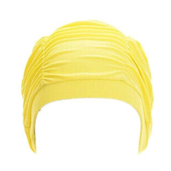 PINkart-USA H / One Size Fit All / China Swimming Hat Women Unisex Girls Long Hair Bathing Cap Vocational Swimming Cap Stretch Drape Swim