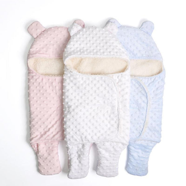Hot Sale Baby Sleeping Bag Knitted Solid Swaddle Blanket Footmuff Sleepsacks Winter Warm Infants'