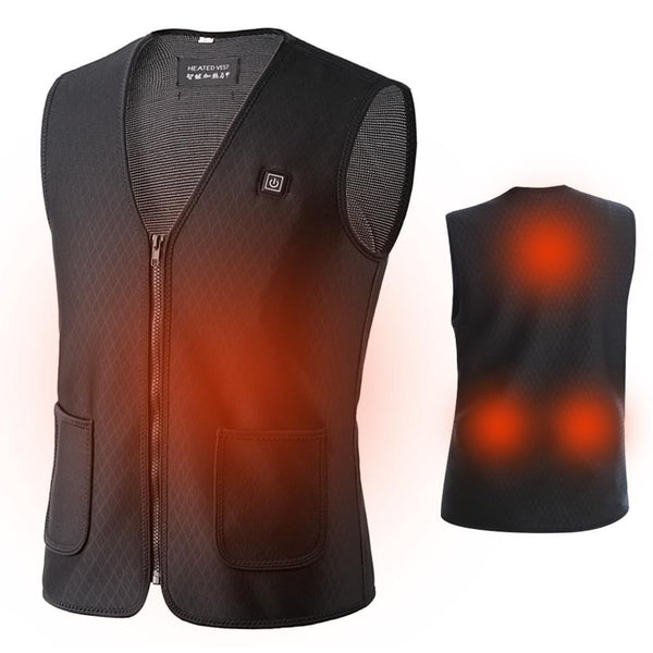 PINkart-USA Hot Sale Men Women Electric Heated Vest Heating Waistcoat Hiking Hunting Vests Usb Thermal Warm