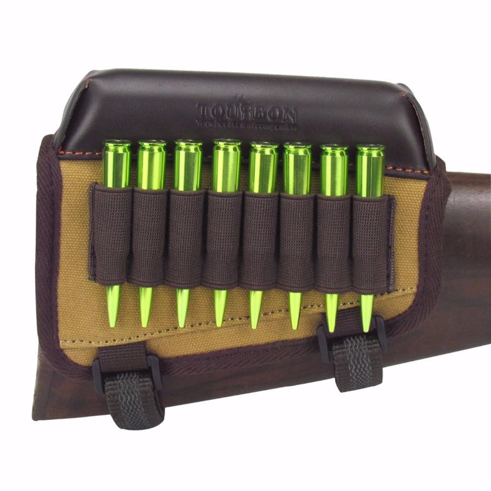 PINkart-USA Hunting Gun Accessories Rifle Butt-Stock Cheek Rest Riser Pad Canvas With Ammo Cartridges Holder
