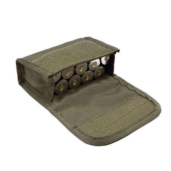 PINkart-USA Hunting Tactical 10 Round Pouches Shotshell Reload Holder Molle Pouch 12 Gauge/20G Magazine Ammo