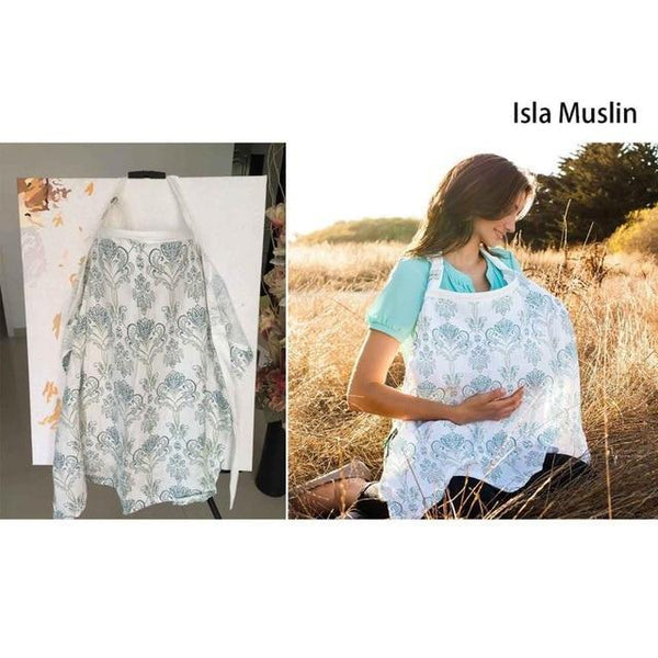 PINkart-USA Isla muslin Multifunctionl Nursing Cover Mother Breast Feeding Cotton Maternity Nursing Apron Breastfeeding