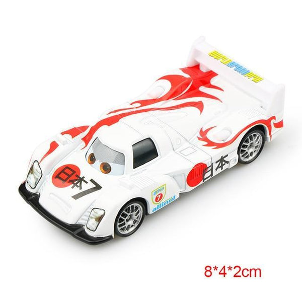 PINkart-USA Japan Pixar Cars 2 3 Lightning Mcqueen Mater Jackson Storm Ramirez 1:55 Diecast Vehicle Metal Alloy Boy