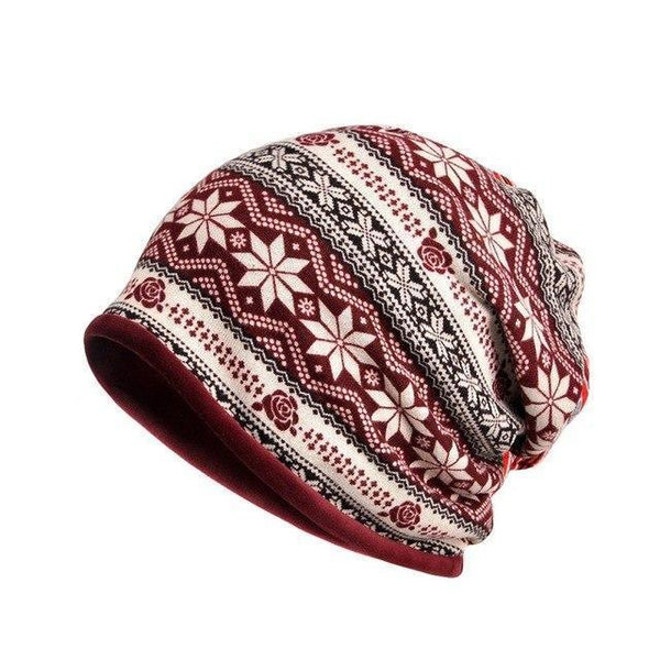 PINkart-USA JR Outdoor Windproof Earmuff Cap Scarf Women Simple Style Printed Windproof Thermal Stretch Hat Neck