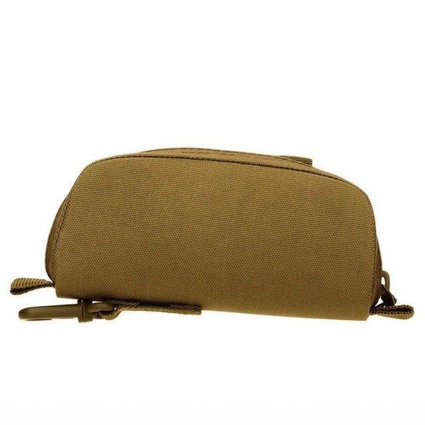 PINkart-USA Khaki Men Tactical Military Army Molle Sunglasses Case Eyeglasses Bag Outdoor Glasses Pouch Fanny Pack