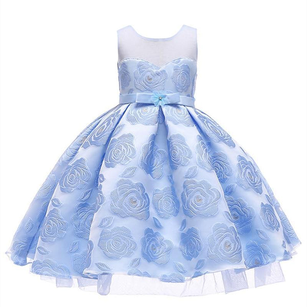 PINkart-USA Kids Girls Flower Dresses Christmas Party Dress 2 3 4 5 6 7 8 9 10 Year Birthday Outfits Dresses
