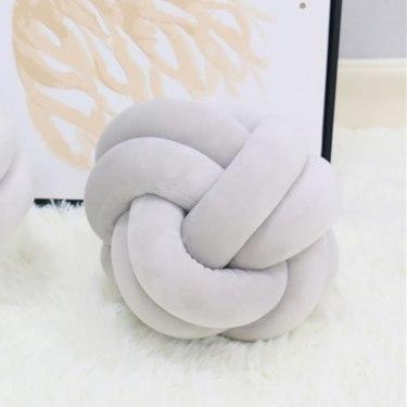 PINkart-USA Knot ball diam 22cm 1.5M/2M Baby Crib Protector Knot Baby Bed Bumper Weaving Plush Infant Crib Cushion For Borns