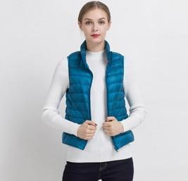 PINkart-USA Lake blue / S Women Vs Winter Ultra Light White Duck Down V Female Slim Sleeveless Jacket Women'S Windproof