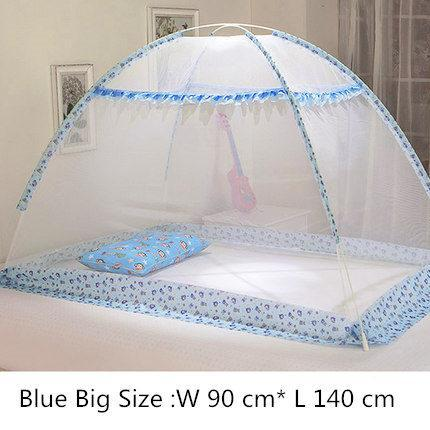 PINkart-USA lansedahao Blue Pink Cartoon Baby Bed Canopy Portable Folding Crib Netting Tent Without Bottom 80*100/90*140