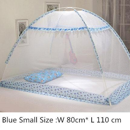 Blue Pink Cartoon Baby Bed Canopy Portable Folding Crib Netting Tent Without Bottom 80*100/90*140