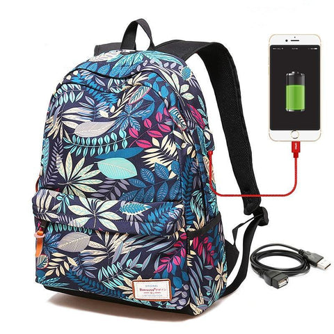 PINkart-USA Large red New Female Backpack Schoolbag Large Capacity Laptop Backpack For Teenagers Girls External Usb Charging Backpack Women Travel Bag