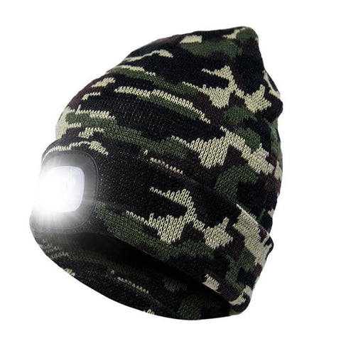 PINkart-USA Led Headlamp Beanie Cap Rechargeable Lighted Hat With Led Head Light Flashlight For Outdoor Evening