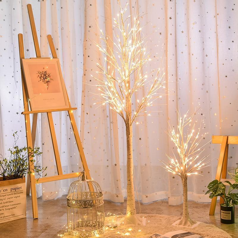 PINkart-USA Led White Birch Tree Light 90Cm 180Cm Christmas Wedding Home Bedroom Decorative Tree Branches Lamps