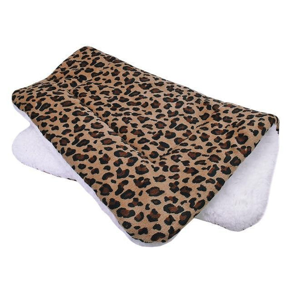 PINkart-USA Leopard / L Warm Winter Dog Bed Mat Puppy Cat House Kennel Small Medium Large Dogs Beds Christmas Sleeping