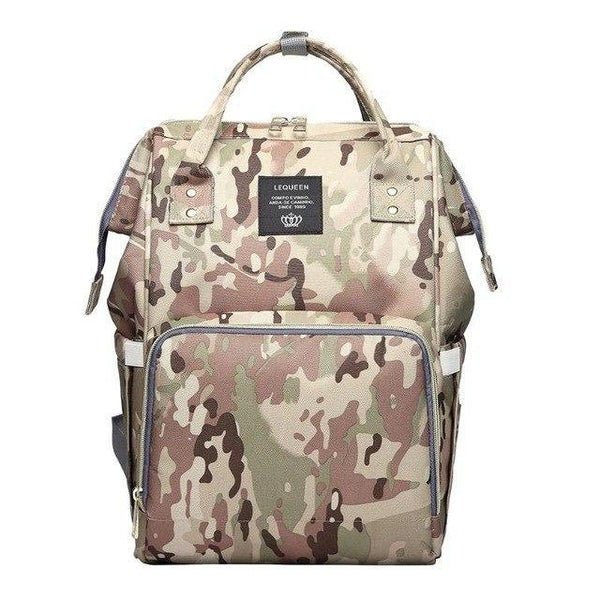 PINkart-USA Light Camouflage Waterproof Mummy Diaper Bags Camo Print Backpack Large Capacity Baby Care Baby Bag Nappy Backpack