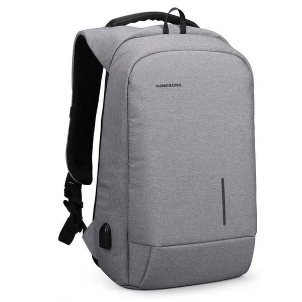 PINkart-USA Light Grey / 13.6 Inches Kingsons Backpack Men 13 15.6 Inch Laptop Anti Theft Bagpack Usb Charging Mini Back Pack For Teenager Boys Travel Bag Mochila