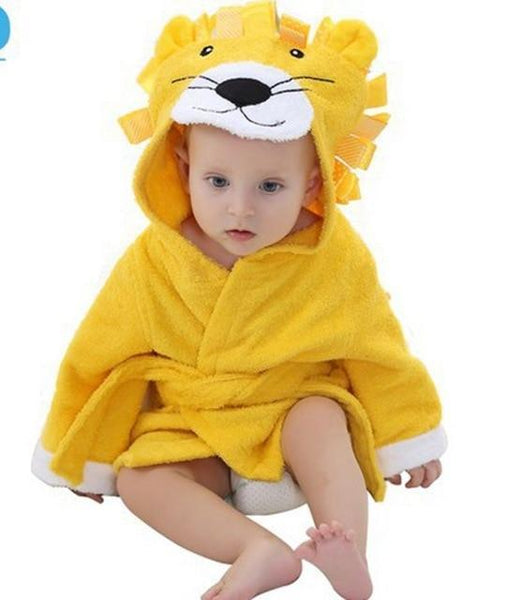 PINkart-USA lion / 9M Infant Animal Modeling Of Home Service Cotton Hooded Bathrobes Children'S Various Shapes Of Animals
