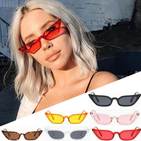 PINkart-USA Magnificent Cycling Eyewear Women Vintage Cat Eye Sunglasses Retro Small Frame Uv400 Eyewear