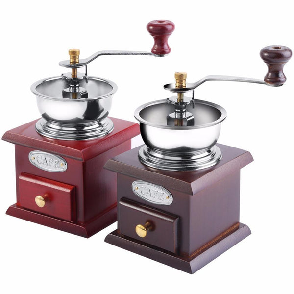PINkart-USA Manual Coffee Grinder Molinillo Cafe With Ceramic Millstone Retro Koffiemo Home Decoration Coffee