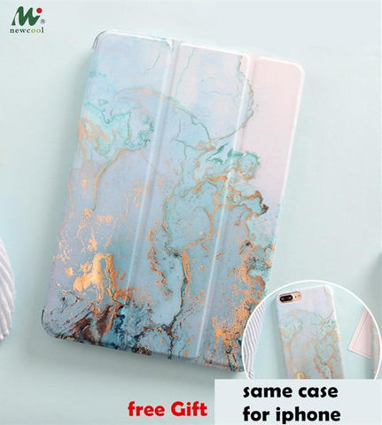 PINkart-USA Marble Magnet Flip Cover For iPad Pro 9.7 11 air 10.5 12.9 Air2 Mini 1 2 3 4 mini5 Tablet Case cover for iPad 9.7 2017 2018 2019