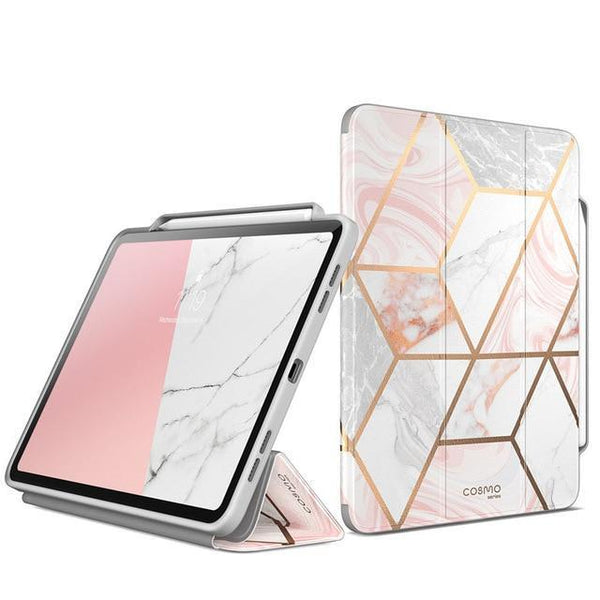 PINkart-USA Marble Pink For iPad Pro 12.9 Case (2018) i-Blason Cosmo Full-Body Trifold Stand Marble Case Flip Cover with Auto Sleep/Wake & Pencil Holder