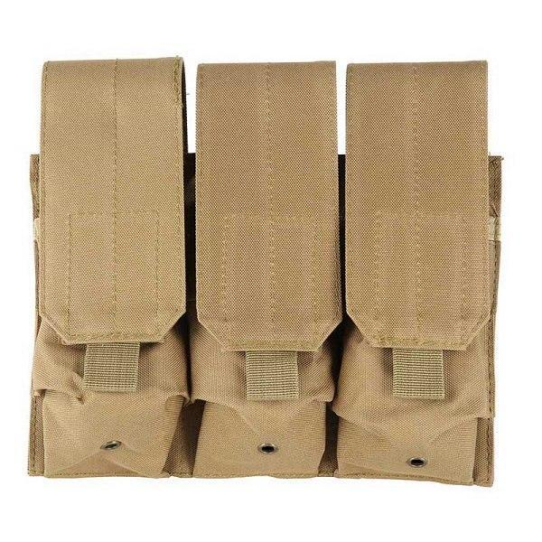 PINkart-USA MC Molle Tactical Triple Ar15 M4 5.56Mm Mag Magazine Pouch Pistol Handgun Shooting Vest Tool Dump Drop