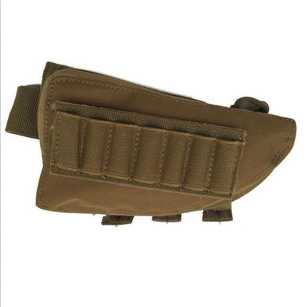 PINkart-USA MC Outdoor Tactical Buttstock Rifle Stock Ammo Portable Pouch Shell Cartridge Holder Pouch Holder