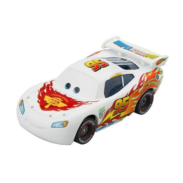 PINkart-USA McQueen White Pixar Cars 3 2 Fabulous Silver Lightning Mcqueen Suv 1:55 Diecast Metal Alloy Car Model Birthday