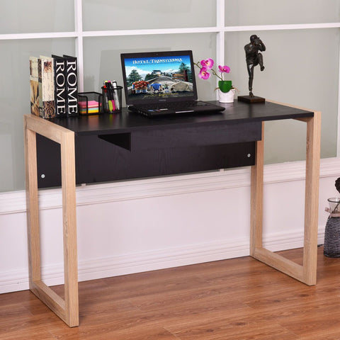PINkart-USA Modern Computer Desk Pc Laptop Table Wood Writing Workstation With Drawer Home Office Furniture