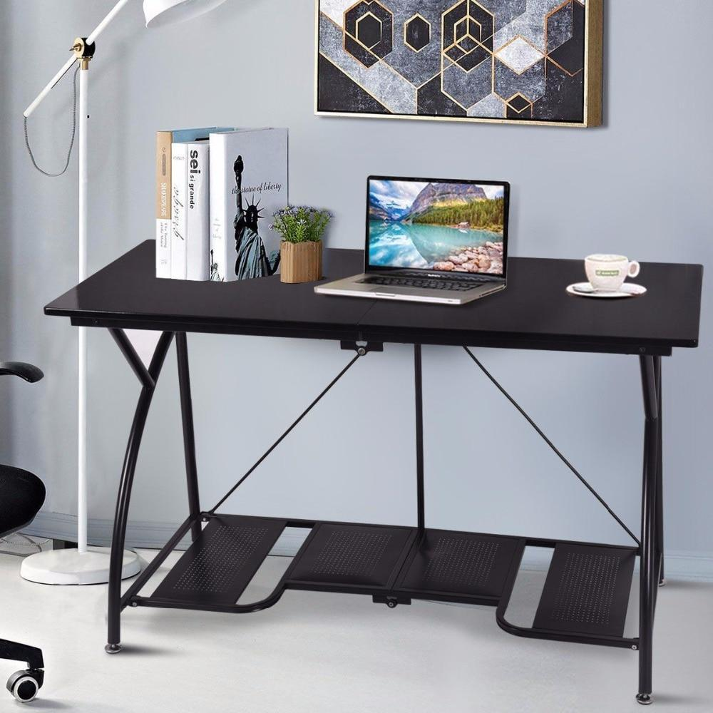 PINkart-USA Modern Folding Computer Desk Home Office Study Pc Writing Table Portable Simple Modern Furniture