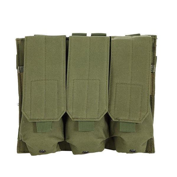 PINkart-USA Molle Tactical Triple Ar15 M4 5.56Mm Mag Magazine Pouch Pistol Handgun Shooting Vest Tool Dump Drop