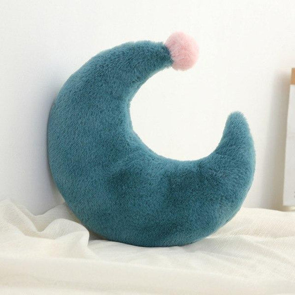 PINkart-USA Moon Green Born Kawaii Toy Kids Back Cushion Baby Room Decor Pillows Crib Wall Decoration Children Products