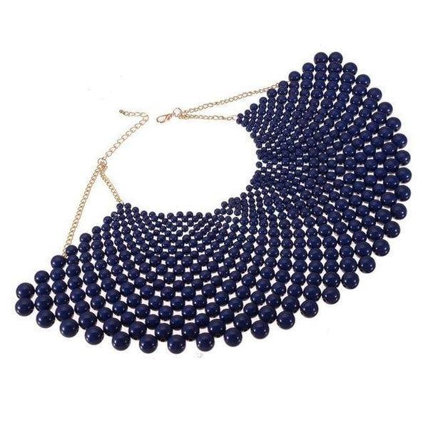 PINkart-USA N0012482 / China / 400-350 mm 12 Colors Chunky Statement Necklace For Women Neckcklace Bib Collar Choker Pearl Necklace Maxi