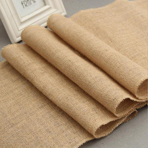 PINkart-USA Natural Jute Table Runner Wedding Burlap Table Runners Home Textiles Country Party Decoration