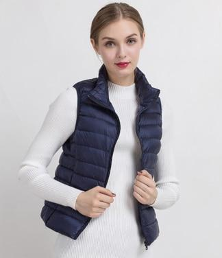 PINkart-USA Navy blue / S Women Vs Winter Ultra Light White Duck Down V Female Slim Sleeveless Jacket Women'S Windproof